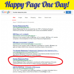 Page One of Google | Two Creative Design Group