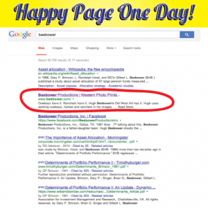 Page One of Google